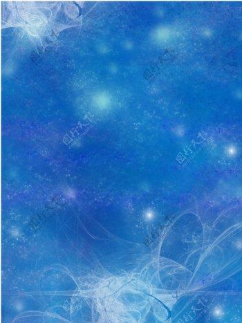 梦幻蓝色背景素材