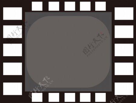 原创设计电影边框黑白灰