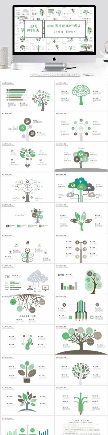 树状图可视化PPT图表