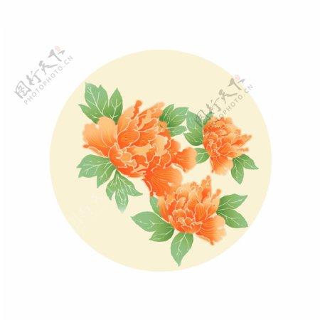 牡丹矢量花