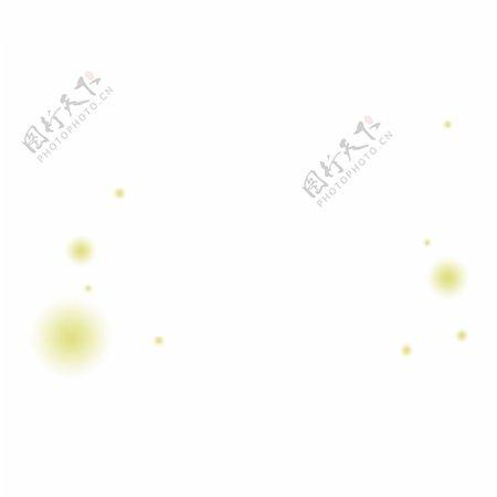 黄色闪耀的荧光