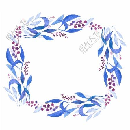 蓝色叶子花环