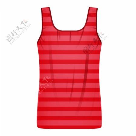 红色条纹上衣