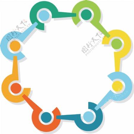 连环问号图表插画