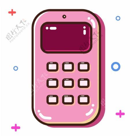 粉色立体手机