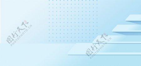 小清新的蓝色背景素材