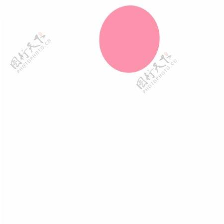 粉色的卡通气球