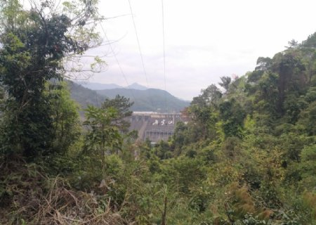 远看新丰江水电站