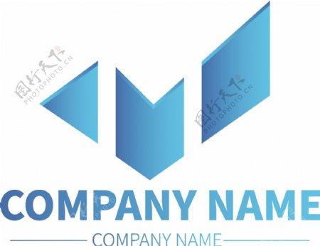 品牌公司LOGO企业高端标示渐变商标图形