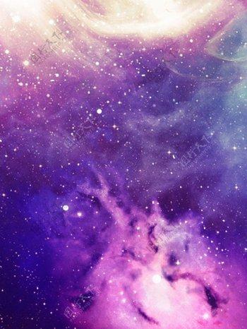 科技紫色火焰背景素材