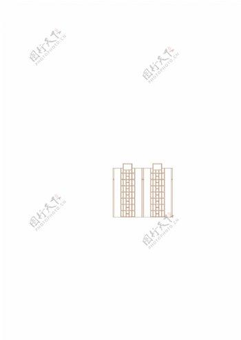 住宅高层建筑线稿