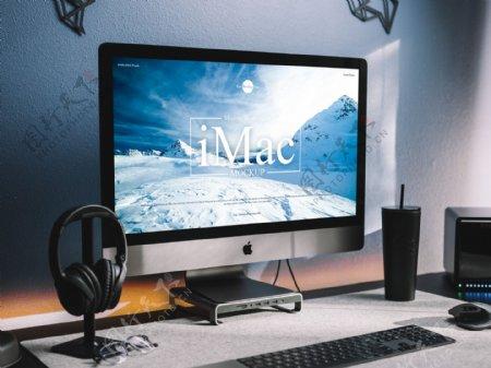 iMac电脑样机模型
