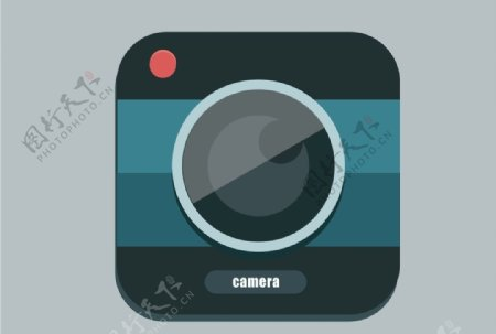 使用椭圆工具制作相机APP图标