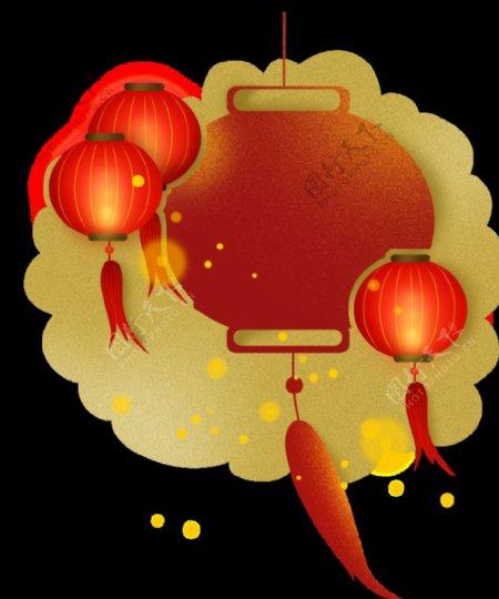 春节灯笼元素