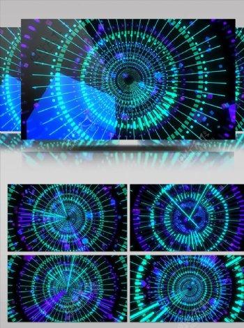 圆形线条扩散转动舞台背景视频