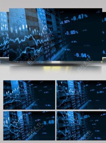 股票数据变化视频素材
