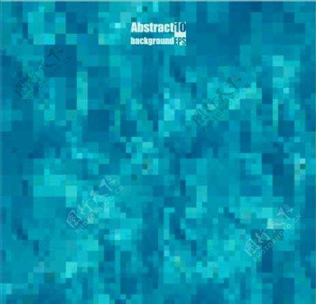 马赛克风格湖蓝色背景素材