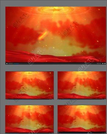 红色背景动画素材