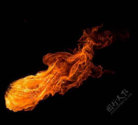 火篝火火焰背景黑色晚
