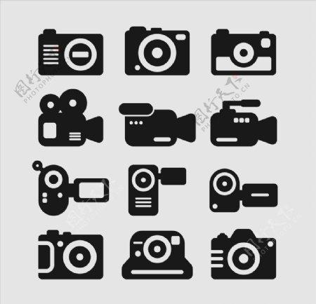 相机摄影图标icon设计