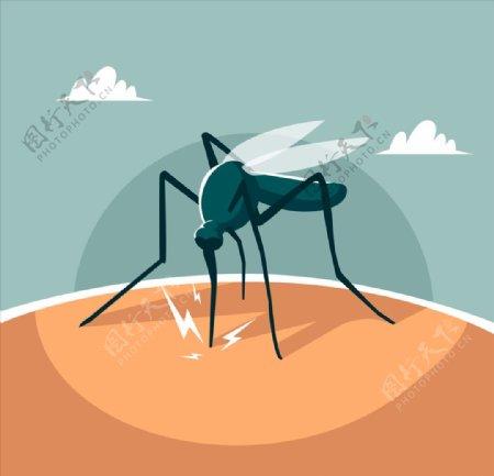蚊子矢量插画插图