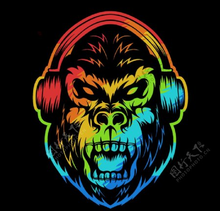 猴子创意头像
