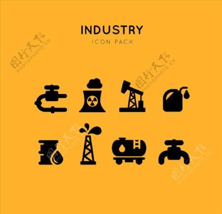 原油开采图标icon设计