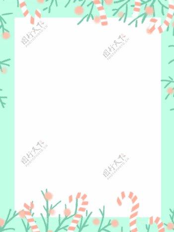 卡通花朵边框背景