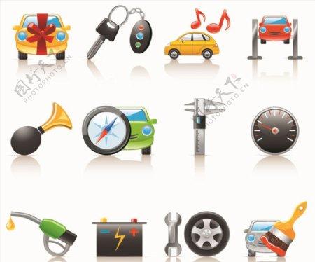 矢量汽车元素图标