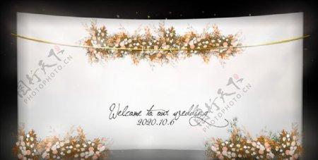 纯白色婚礼效果图