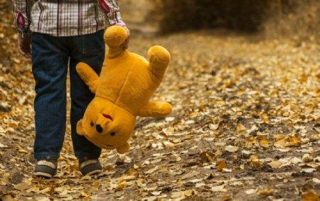 落叶儿童玩具