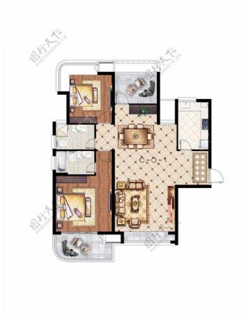 房地产户型加配图户型渲染