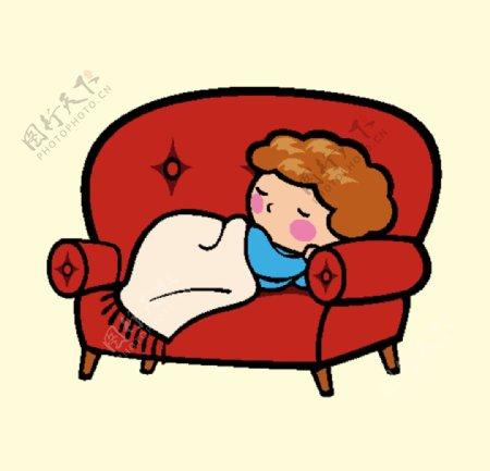沙发上睡觉