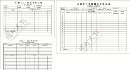 产品加工日报表及自主检查表