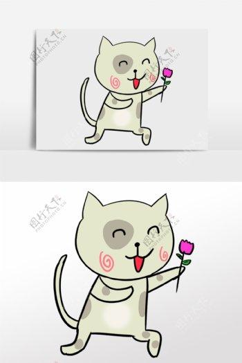 卡通猫猫卡通动物动物素