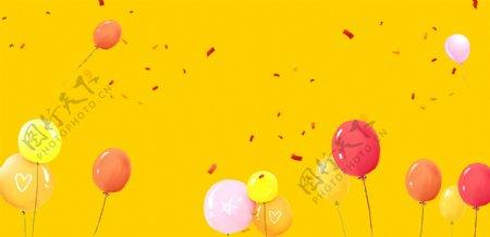 卡通气球背景