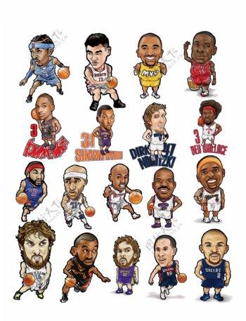 卡通NBA球星