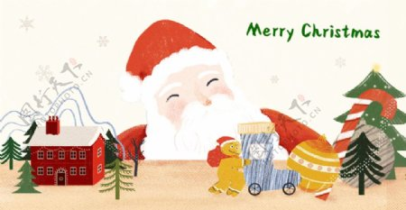 圣诞老人圣诞节活动动画素材