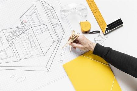 绘制建筑工程图纸
