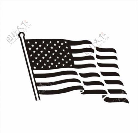 飘扬旗帜旗子CDR矢量图