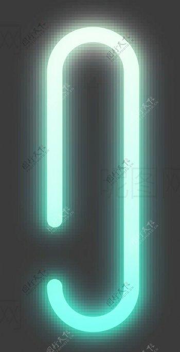 霓虹灯字母I