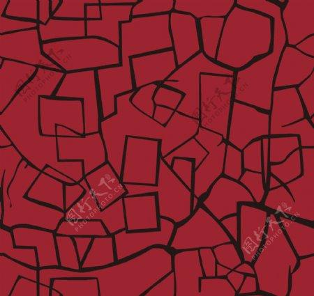 线条几何图形数码红底黑条