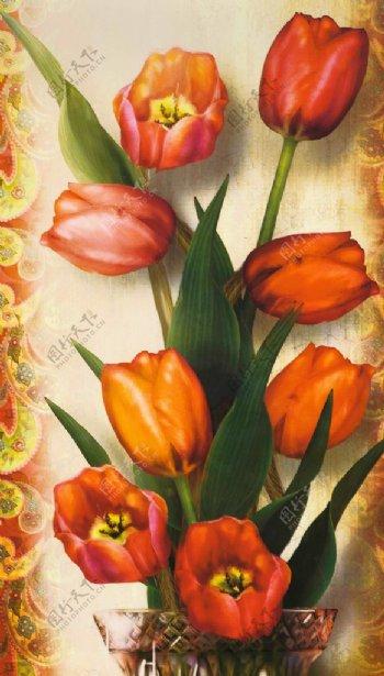 花束客厅装饰画