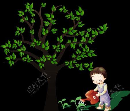 卡通植物元素