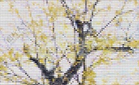 草木布条纹
