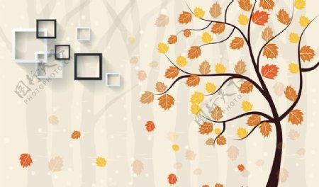 枫树枫叶背景墙
