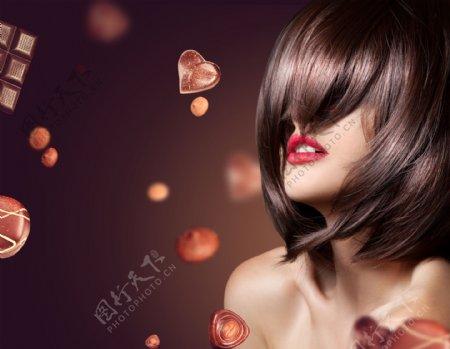 发型美发模特