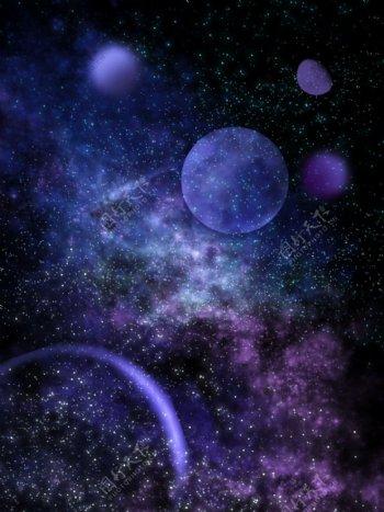 梦幻蓝色星空背景