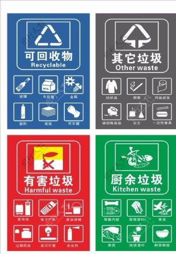垃圾桶标识垃圾分类图片