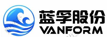 蓝孚白底logo图片